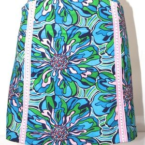 LILLY PULITZER MULTICOLOR FLORAL MINI SKIRT SIZE 6